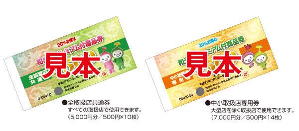 sample - いよいよ和光市プレミアム付商品券が販売されます